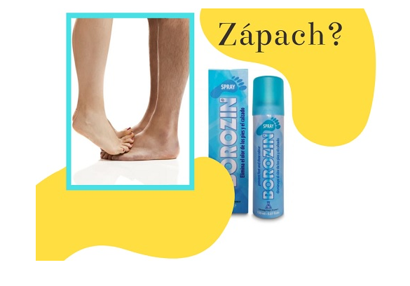 Borozin spray na smrdiace nohy. Otestujte.