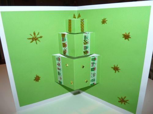 3D Otváracia vianočná pohľadnica