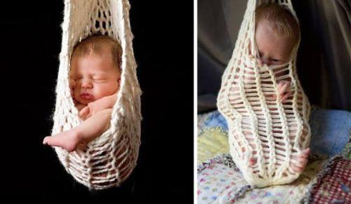 Dokonalé fotky bábätiek versus realita :)