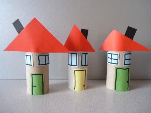Tvorivo s deťmi: Domček z papierovej rolky