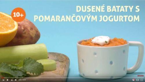 Dusené bataty s pomarančovým jogurtom (od 10 mesiacov)