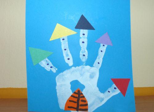 Tvoríme s deťmi: Hrad z odtlačku dlane