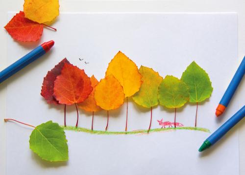 Jesenné listy. Výtvarka pre deti