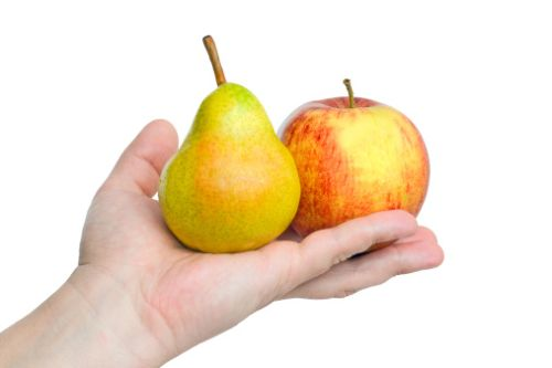 Jablká a hrušky