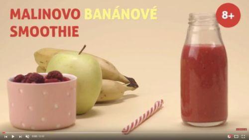 Malinovo-banánové smoothie (od 8 mesiacov)