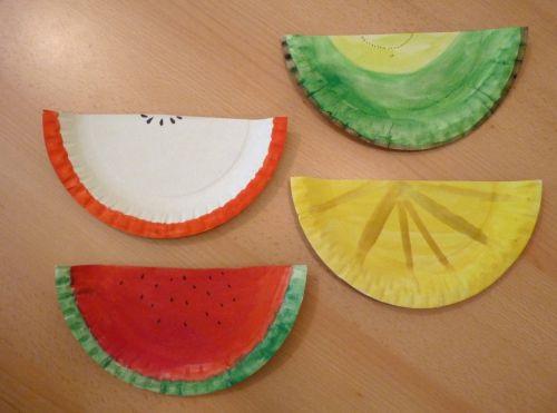 Tvorivo s deťmi: ovocie z papierového taniera