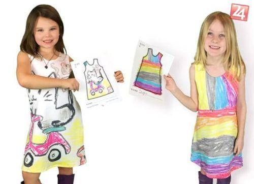 Malí módni návrhári nosia šaty z vlastných kresieb