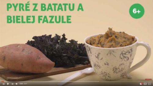Pyré z batatu a bielej fazule (od 6 mesiacov)