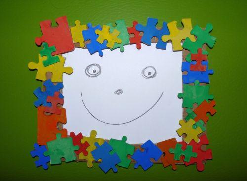 Tvoríme s deťmi: Rámček na fotografiu z puzzle