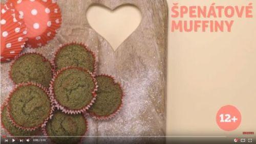 Špenátové muffiny (od 12 mesiacov)